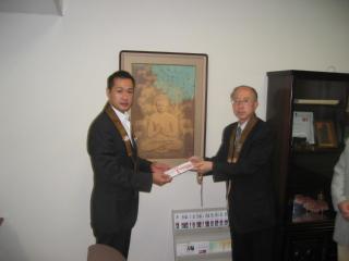 長野市仏教会義援金寄付写真