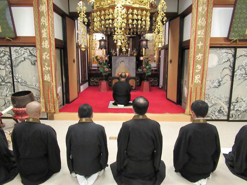 長野市仏教会 成道会法要 写真